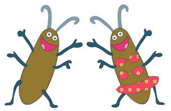 Happy bugs Royalty Free Stock Images