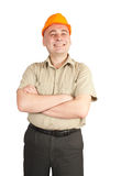 Happy builder Stock Photo