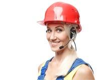 Happy builder Stock Image
