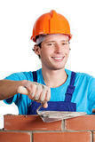 Happy builder Stock Images
