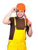 Happy builder Royalty Free Stock Image