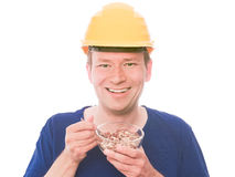Happy building snack royalty free stock photos