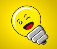 Happy bulb Stock Image
