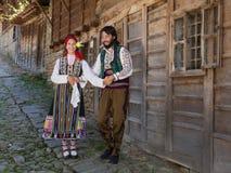 Happy Bulgarian couple dancing Royalty Free Stock Photo