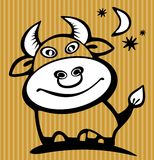 Happy bull Royalty Free Stock Photos