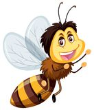 A happy bumble bee. Illustration royalty free illustration