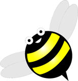 Happy Bumblebee. Drawing of a smiling cartoon bumblebee vector illustration
