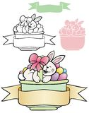 Happy Bunny easter basket Royalty Free Stock Photo