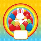 Happy bunny easter symbol. Happy bunny easter season vector illustration Stock Photos