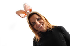 Happy bunny girl Stock Images