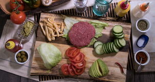 Happy burger, stop motion stock footage