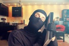 Happy burglar Stock Images