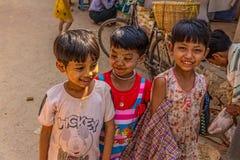 Happy Burmese children Royalty Free Stock Images
