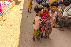 Happy Burmese children Stock Images