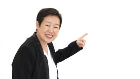 Happy business asian woman manager smiling success on white isol Stock Photos