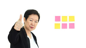 Happy business asian woman manager smiling success on white isol Royalty Free Stock Photography