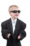 Happy business-boy Stock Image
