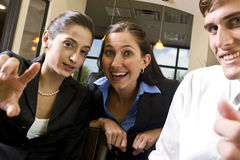Happy business colleagues Stock Images
