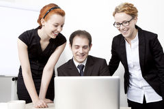 Happy business colleagues Royalty Free Stock Photography
