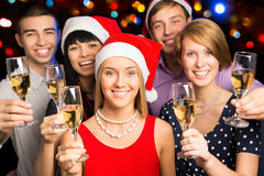 Happy business colleagues. Merry Christmas Stock Photo
