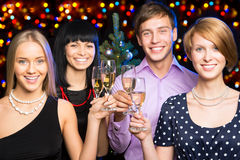 Happy business colleagues. Merry Christmas Royalty Free Stock Image
