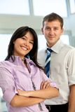 Happy business couple Stock Images