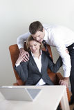 Happy business couple Royalty Free Stock Image
