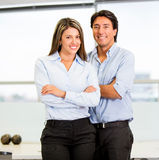 Happy business couple Stock Image
