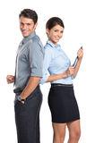 Happy Business Couple Royalty Free Stock Images