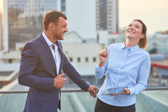Happy business couple. Royalty Free Stock Photo