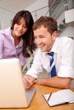 Happy business couple working Stock Photo