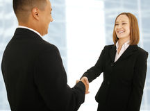 Happy Business Deal royalty free stock photo