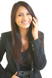 Happy business female with cell phone Royalty Free Stock Image