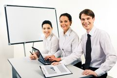 Happy business group Stock Photos