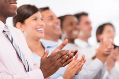 Happy business group applauding Royalty Free Stock Image