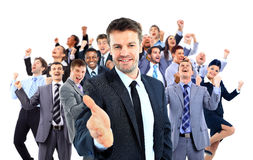 Happy business group. Royalty Free Stock Images