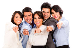 Business group pointing at the camera Royalty Free Stock Photo