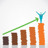 Happy with business growth.  Royalty Free Stock Images
