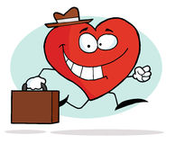 Happy Business Heart. Going To Work vector illustration