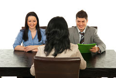 Happy business interview people Royalty Free Stock Photo