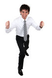 Happy business man. Happy and successful young business man Royalty Free Stock Image