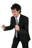Happy business man. Happy and successful young business man Royalty Free Stock Photos