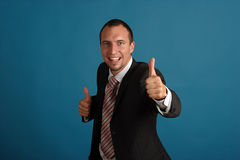 Happy business man Stock Photo