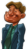 A happy business man. Happy executive smiling and happy Royalty Free Stock Images