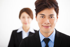 happy business man with colleagues Royalty Free Stock Photos