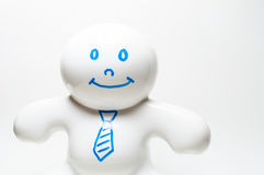 Happy Business Man. A figure of a happy business man isolated on white Royalty Free Stock Photos