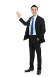 Happy business man giving presentation Stock Image