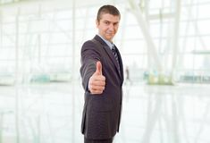 Businessman thumb up Royalty Free Stock Photography