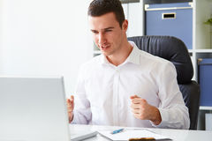 Happy business man Stock Photography