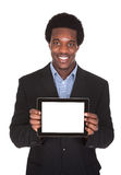 Happy Business Man Holding Digital Tablet Royalty Free Stock Photography